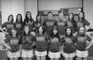 The 2012-2013 team is pictured here, consisting of 19 girls and one boy. The team is made up of dancers who have competed competitively at local, national and international levels. Photo courtesy of Ellie Stueckroth / Elevation Facebook page