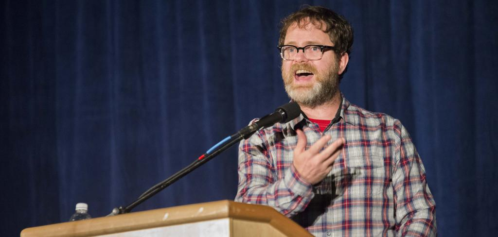 John Schuler / Photo Editor Pancakes: Wilson's Feb. 6 talk centered on his work with his website, SoulPancake.