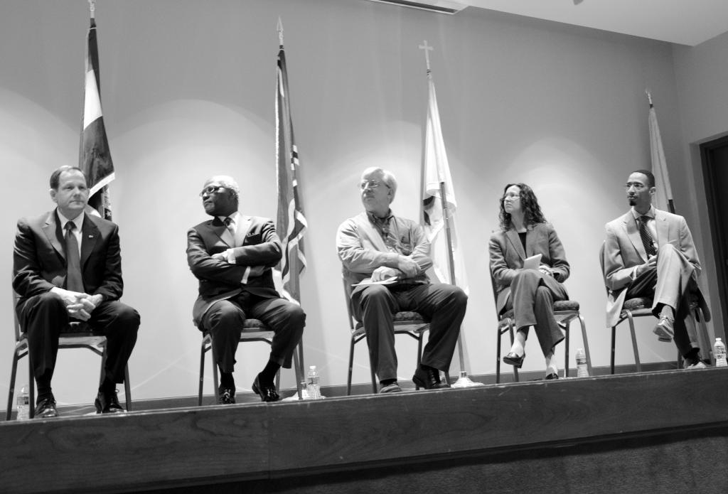 The panel: Wednesday's discussion featured city and county officials and SLU faculty. Photo by Ryan Quinn / Staff Photographer