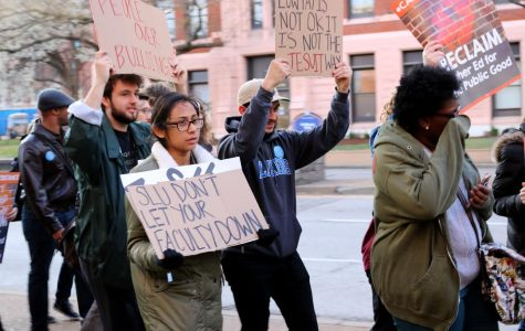 Adjunct professor protest