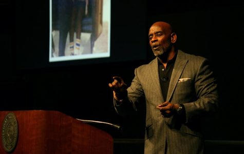 Chris Gardner addresses students about his pursuit to 'happyness'