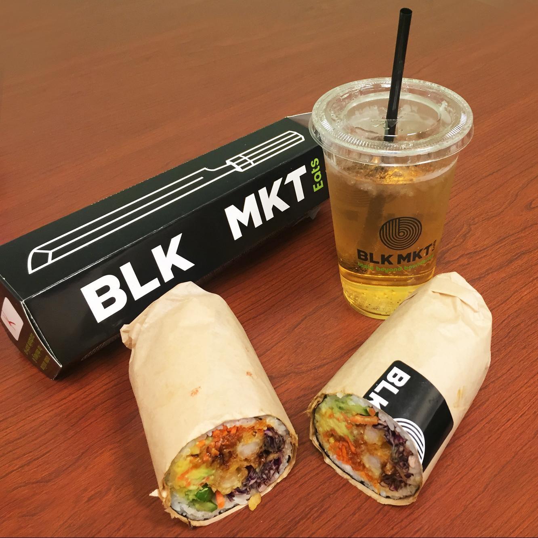 Blk Mkt's Krilla Krunch sushi burrito.