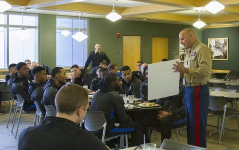 Men learn on the road at Marine Corps Museum