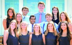 Senior Swimmers and Divers Say Goodbye with a Splash