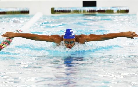 Swimming and Diving Breaks Records at A-10 Meet
