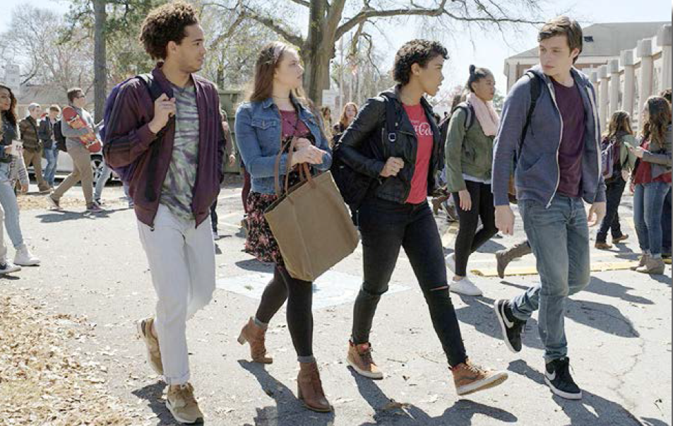GROWING UP: Nick Robinson stars as Simon Spier (far right) who faces the typical pressures of high school, along with the added stress of keeping his sexuality a secret.