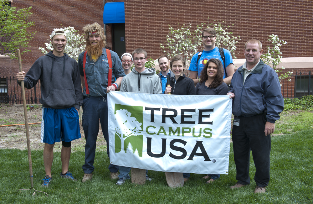 Students and staff celebrated Arbor Day in 2015 with the planting of several trees.