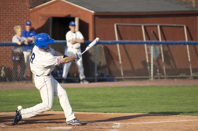 Nick+Becker+puts+a+swing+on+the+ball