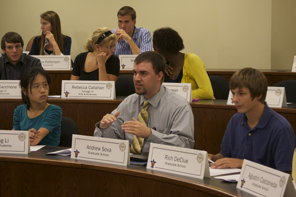 Among other things, SGA discussed transparency of housing. Mark Campos / Staff Photographer
