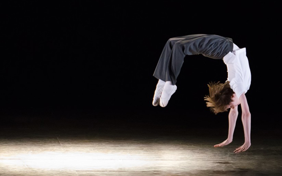 """Kylend Hetherington stars as Billy in """"Billy Elliot the Musical."""" Photo by Kyle Froman"""