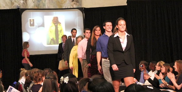 On Feb 15, the Dress for Success fashion show gave students a primer on the presentation of the professional world. Olivia Ojile/ Associate Photo Editor