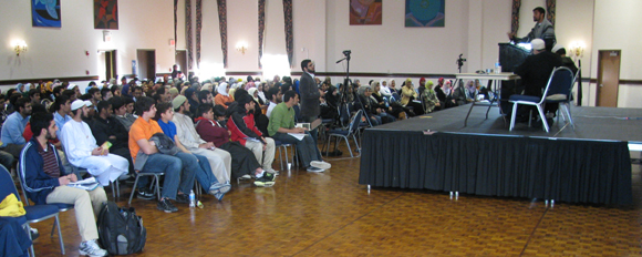 A large crowd gathered on Saturday, Jan. 28 to hear a presentation sponsored by MSA. Photo submitted by Amer Rasheed
