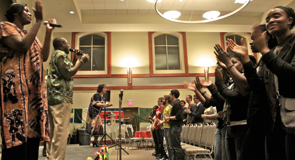 Musical group Songs of Africa performed at SUFAPalooza, highlighting African culture.  Ryan Doan/Staff Photographer