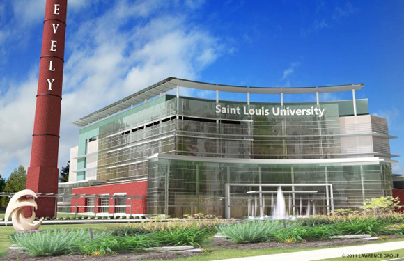 The Lawrence Group, lead developers for the SLU ambulatory care center development project, released a prototype for the state-of-the-art health care center.  Courtesy of The Lawrence Group