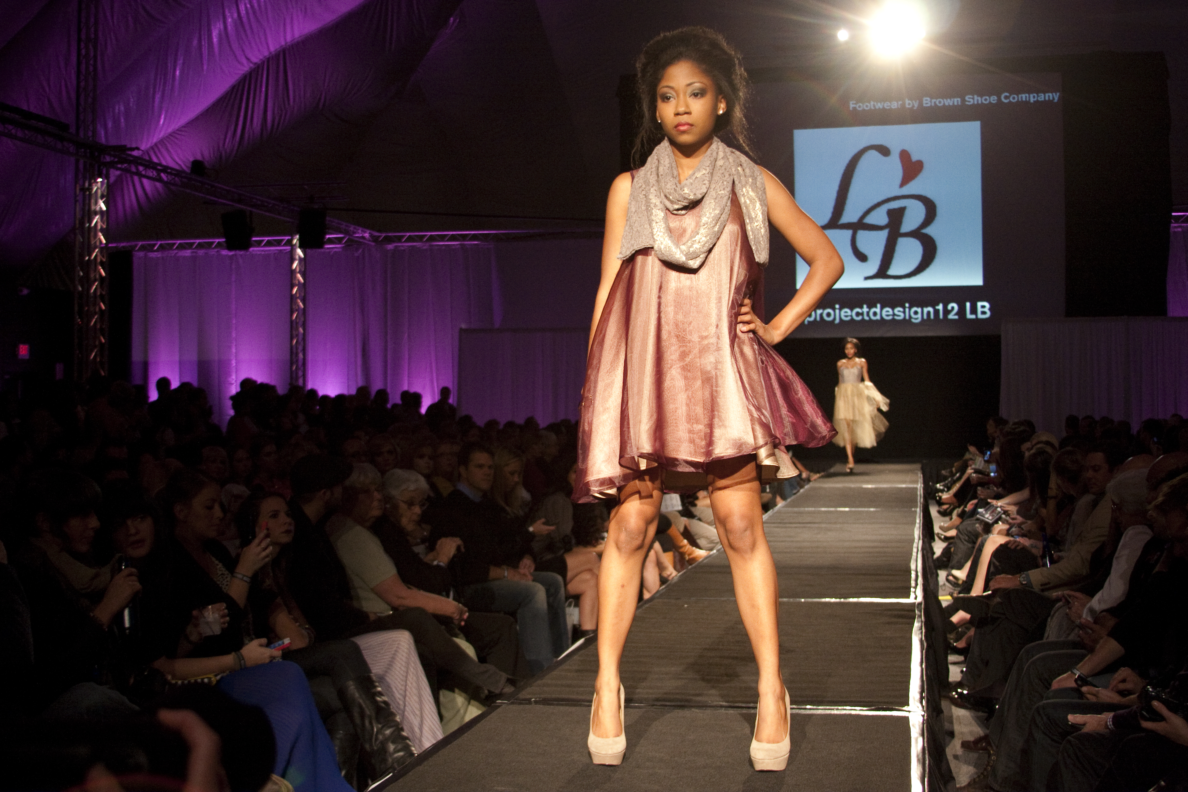 Project: Design! models in the LB by Lauren Bander line wore a multitude of trapeze-style dresses throughout the show. (Noah Berman / Contributor)