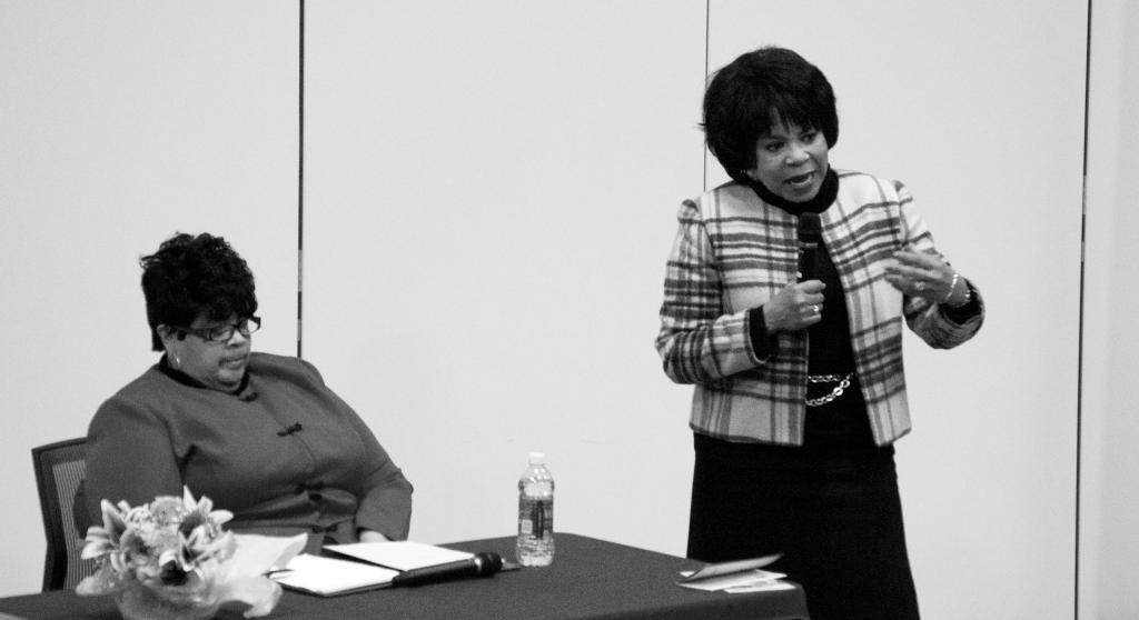 Wolf Howard / News Editor Sisters: Cheryl Brown Henderson (left) and Linda Brown Thompson.