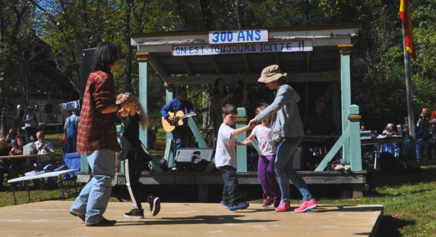 Old Mines: The Fall Festival included many celebratory activities including music and dancing and was a way for the people to embrace their French heritage. Tim Wilhelm / News Editor