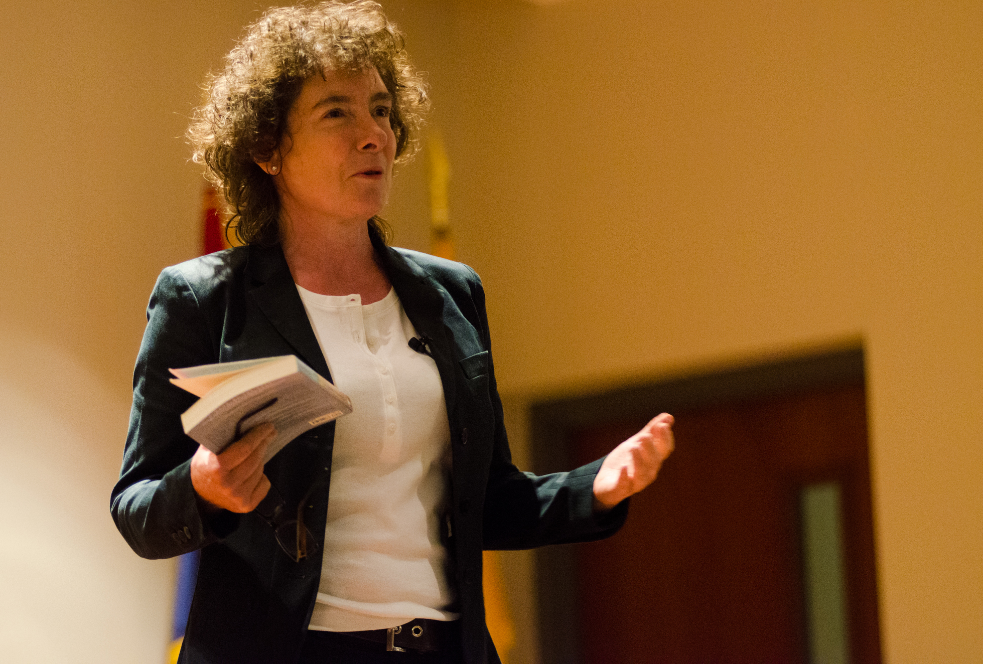 Literary Award: Jeanette Winterson addressed those in attendance at the award ceremony. Ryan Quinn / Photo Editor