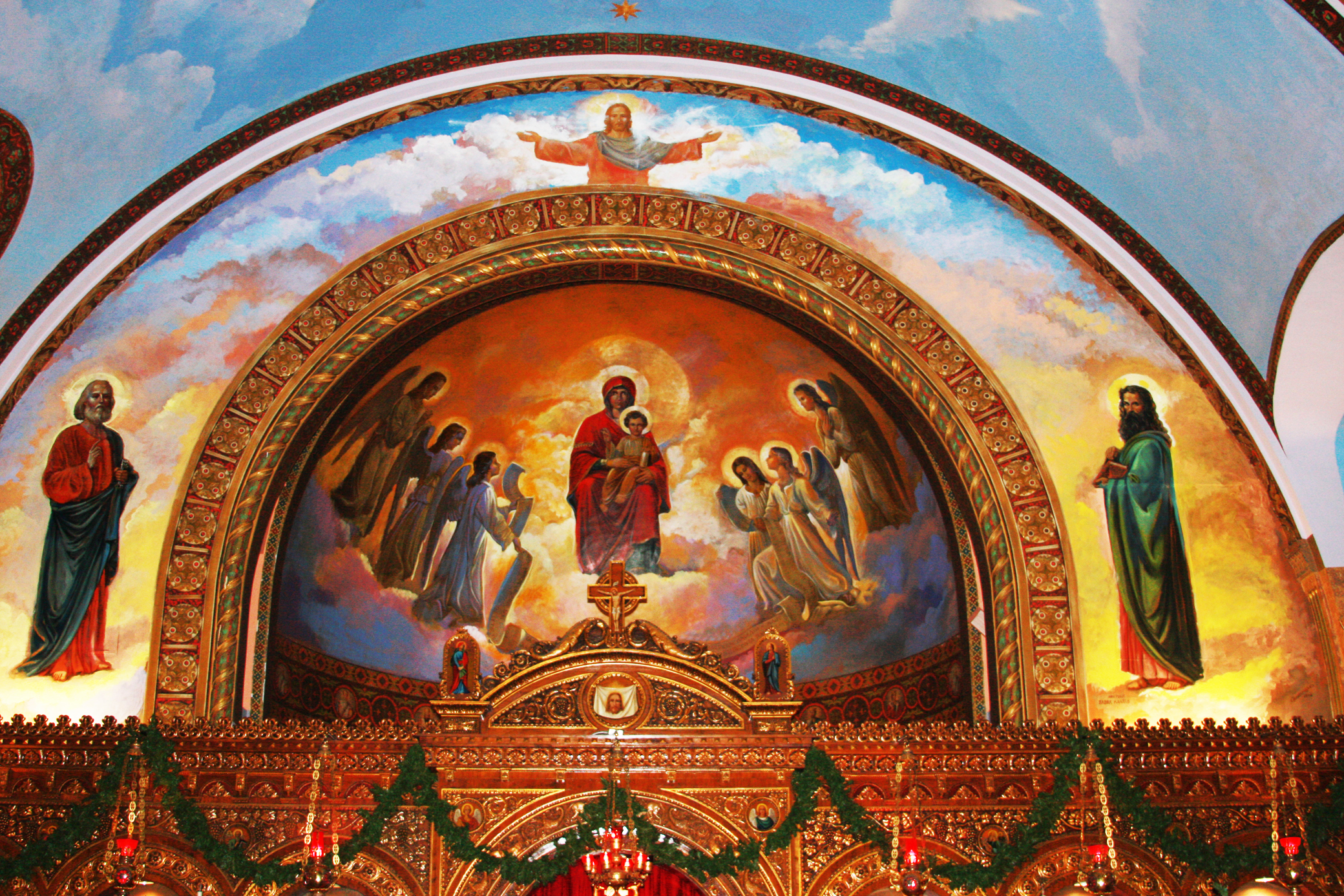 St. Nicholas: Frescoes adorn the interior of this Eastern Orthodox church. Adnan Syed / Staff Writer