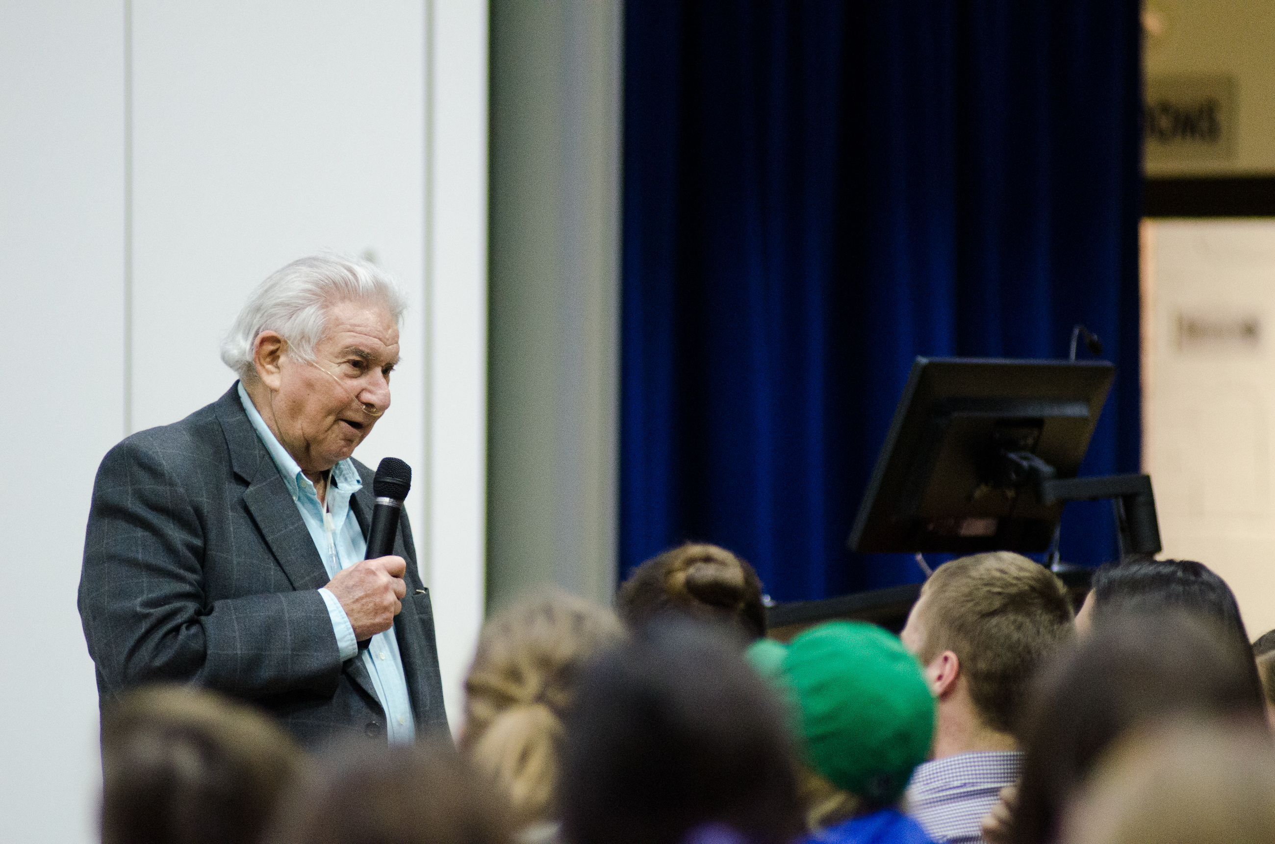 Survivor: Ben Fainer, who worked in a Nazi labor camp during his childhood, was invited to speak at SLU by the university's Jewish Student Association. His mother and his siblings were sent to Auschwitz when he was nine. Ryan Quinn / Photo Editor