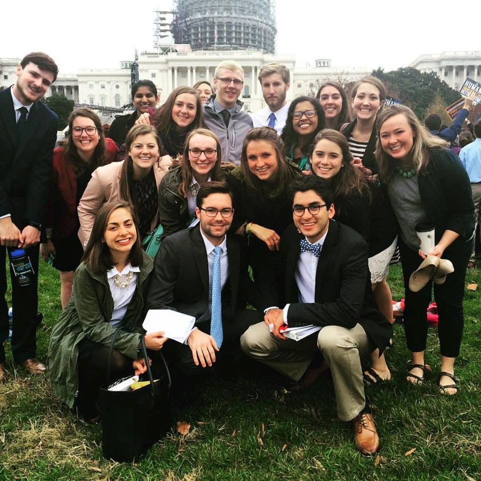 SLU+students+join+D.C.+teach-in