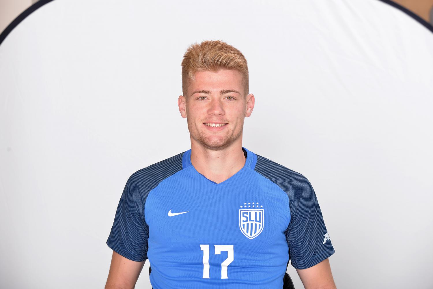 Lennart Hein, junior midfielder for the SLU mens soccer team.