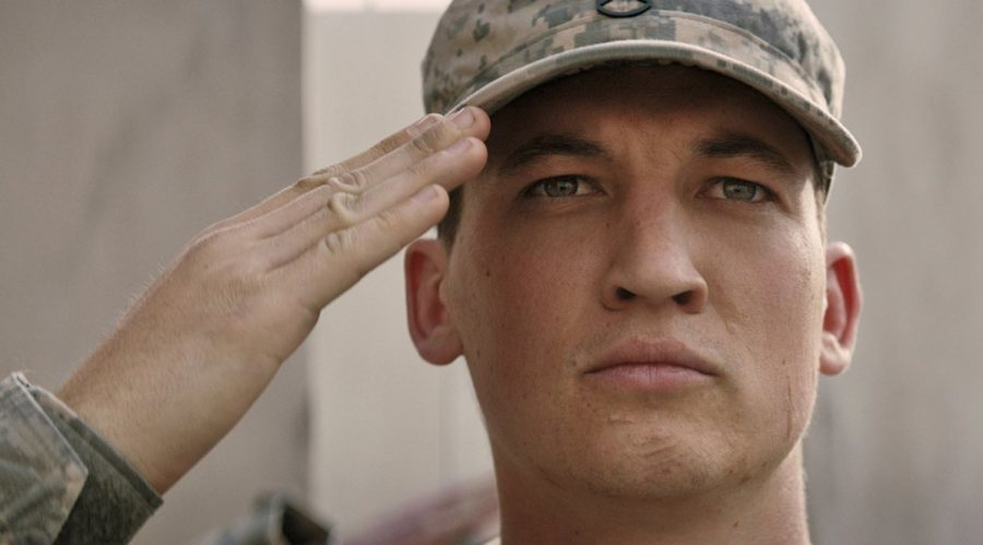 Miles Teller as Adam Schumann returns home from war in Iraq to his family in the Universal Pictures movie, Thank You for Your Service.