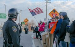 Trump's Arrival in St. Charles Sparks Protests