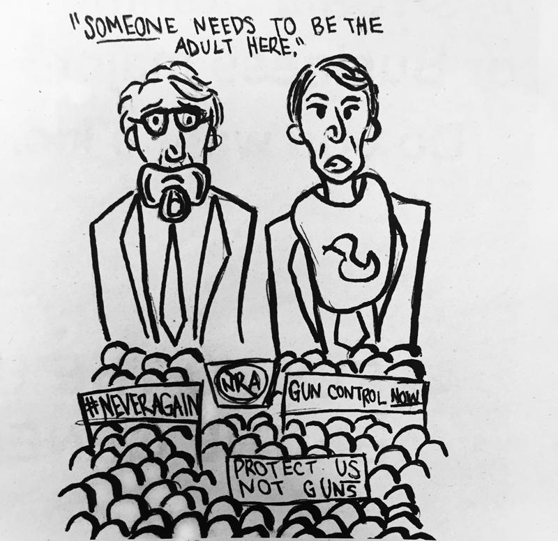 Editorial Cartoon by Nish Gorczyca