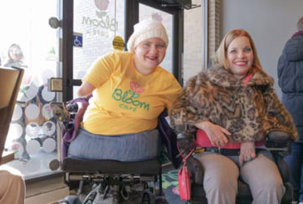 Paraquad President and CEO Aimee Wehmeier and Paraquad Peer Services Specialist Anna Corbitt welcomed guests into The Bloom Cafe. Paraquad empowers people with disabilities to increase their independent living.