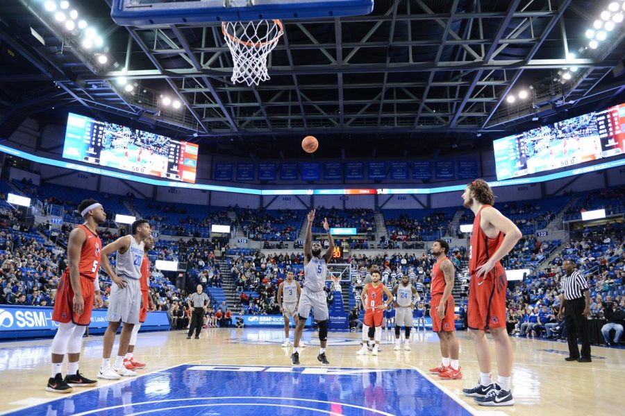 Senior guard Davell Roby shoots a free throw against Richmond. Roby scored 26 points in his fain game as a Billiken during the A-10 Tournament.