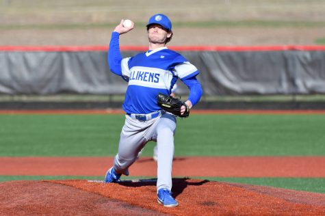 Luke Matheny throws a pitch in the Billikens extra innings loss to Mizzou. The Bills return to conference play this weekend at UMass. Photo Courtesy of Billiken Athletics