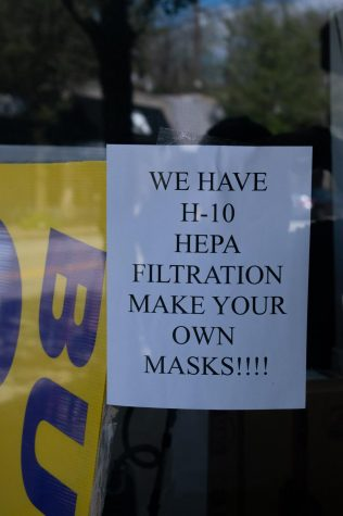 A local vacuum shop has begun to offer mask kits.