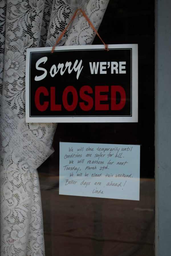 Nearly+every+shop+along+Main+Street+had+a+sign+saying+it+was+closed+for+COVID-19.